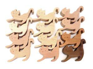 キッズシティおすすめ グッドトイ 創造力を養う組み木ネコ